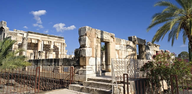 Travel to Capernaum on your tour of the holy land