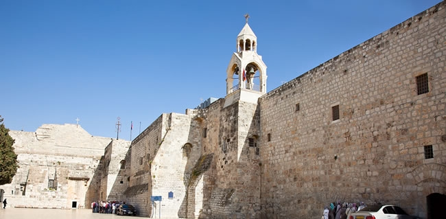 Travel to The Church of the Nativity in Bethlehem on your Escorted Tour
