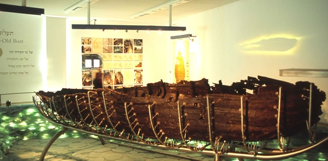 Visit Kibbutz Nof Ginosar and see the Ancient Jesus Boat during your Christian Holy Land Tour of Israel