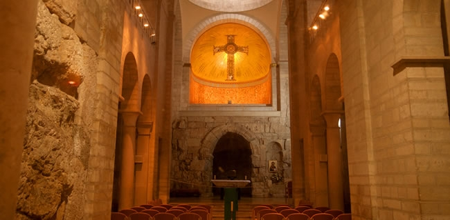 Roman Catholic Church Ecce Homo Church in Old City Jerusalem Open for Prayer during a Holy Land tour to Israel