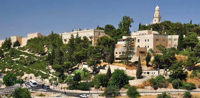 Travel to Mount Zion and visit the Holy Sites