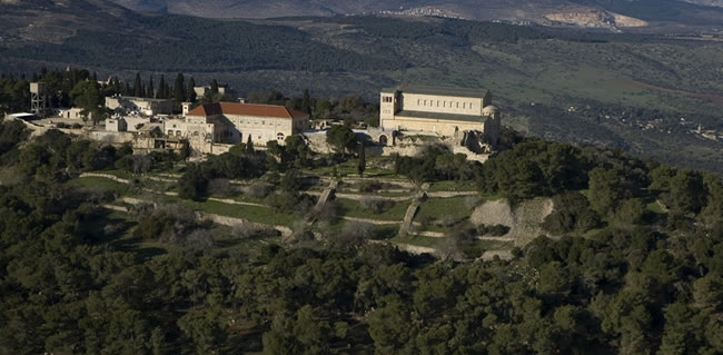 Mount Tabor a Holy Land destination famous with Christians for the site of the Transfiguration of Jesus