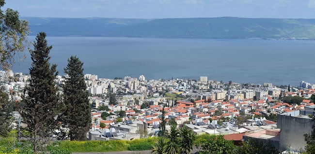 Tiberias Surroundings and Lake Kinneret known as the Sea of Galilee