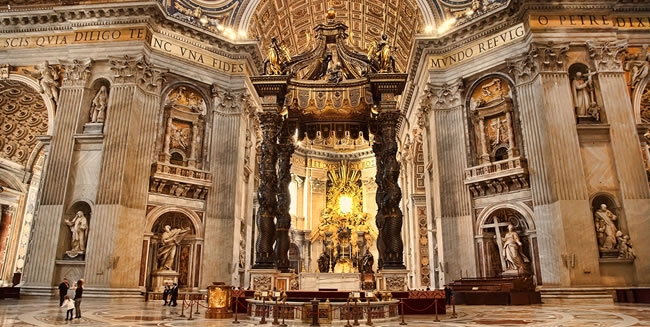 Travel to Rome and Visit St. Peter's Basilica on a Amazing Christian Tour to the Vatican