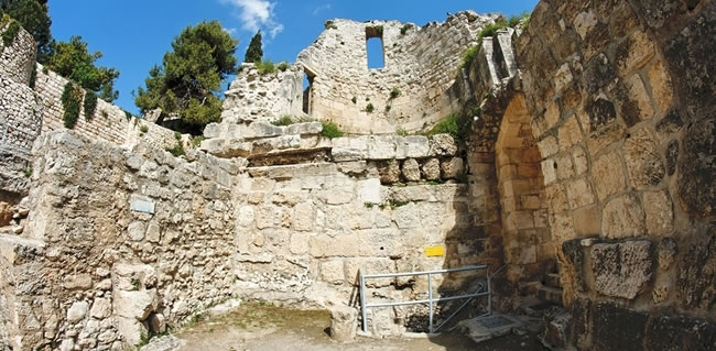 Travel to Israel and visit the Pools of Bethesda where Jesus performed the famous miracle of healing of the paralytic