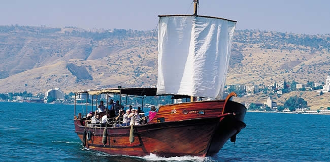 Tour the Galilee in Israel and Sail on the Sea of Galilee where Jesus walked on water