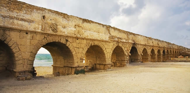 Caesarea an ancient harbor city from the holy land